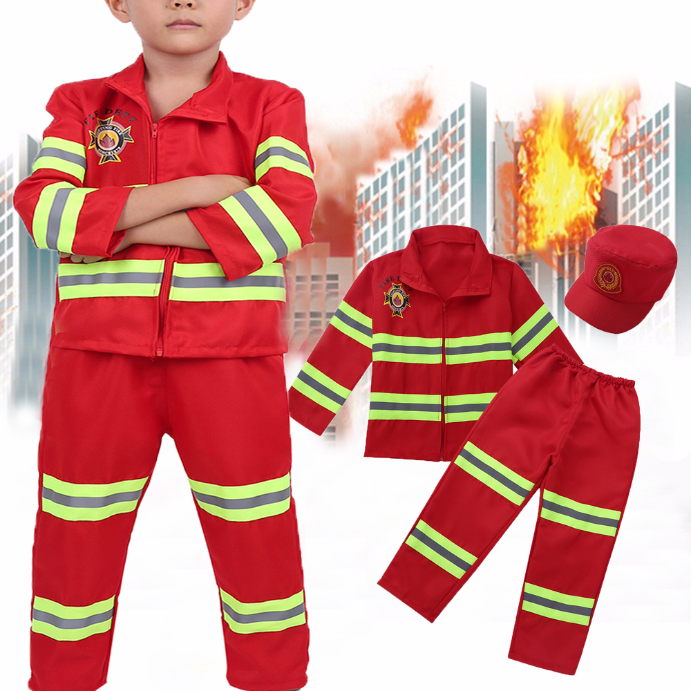 Back To Search Resultsmother & Kids Just Kids Cosplay Fireman Costume Fireman Suit Boys Firefighter Costume For Kids Boys Girls Halloween Christmas Fancy Party Wear Elegant Appearance Clothing Sets