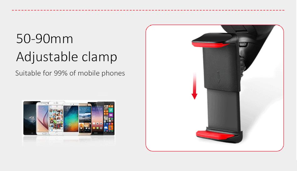 ESVNE Uniwersalny Telefon Samochodowy uchwyt szyby zamontować uchwyt na telefon komórkowy stojak uchwyt Samochodowy uchwyt na telefon Komórkowy Smartfon Telefon 6