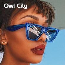 Сова город кошачий глаз женские солнцезащитные очки Брендовые дизайнерские ретро солнцезащитные очки мужские винтажные женские очки UV400 классические солнцезащитные очки