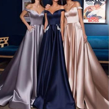 pink bridesmaid dresses cheap off the shoulder sweetheart neckline floor length satin wedding party dress