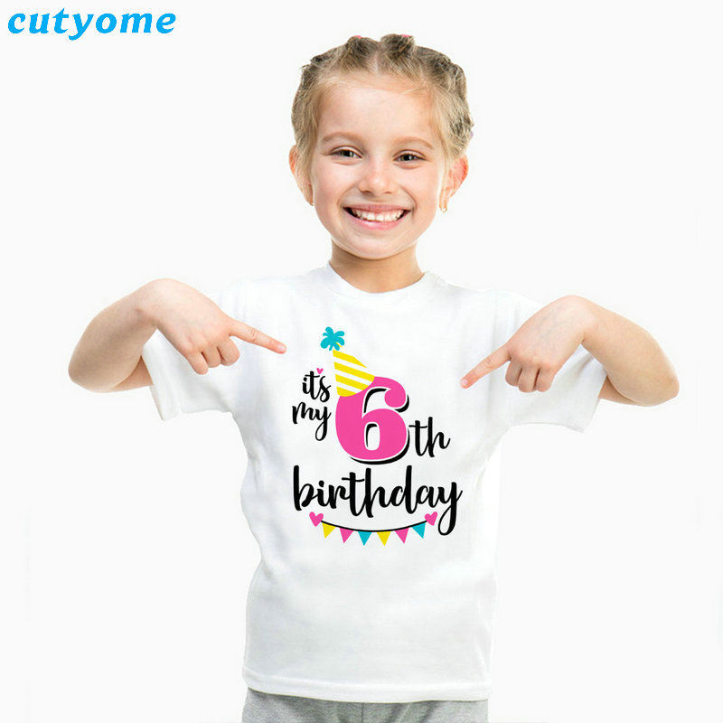 Summer Baby T Shirt Tops Children's Clothing Happy Birthday Girls Boys Short Sleeve Kids Clothes Tee Girls Boys' T-shirts Casual (24)