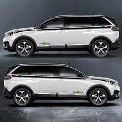 TAIYAO naklejki samochodowe stylizacji samochodów sportowych akcesoria samochodowe dla PEUGEOT 3008 3008GT 2017 4008 5008 2018 po obu stronach naklejki samochodowe stylizacji