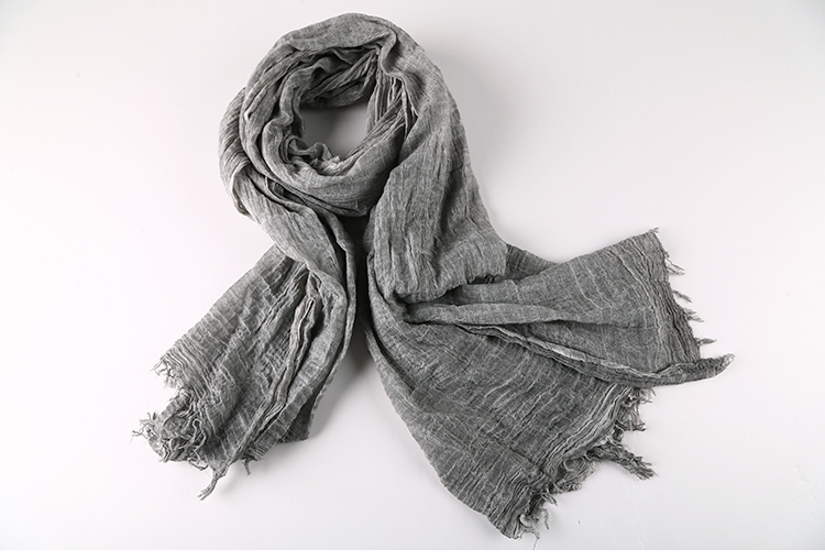 Dedicated 2017 Men Washed Tassel Scarves Cotton Fashion Retro Old Grey Men Winter New Brand Design Scarf For Men Cozy Warm Long Scarf Latest Technology
