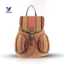 Yubird бренд мода drawstring школьный рюкзак мешок для девочек-подростков женские лоскутные печати путешествия рюкзак женский портфель 2017