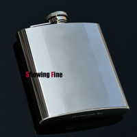 8OZ 8 18 Stainless Steel Fancy Whisky Drink Alcohol Liquor Flask Hip Practical Flagon With Flannel