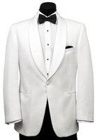 New Groom Suit White Jacket Black Pants Best Men Groomsmen Tuxedo Wedding Suits C38