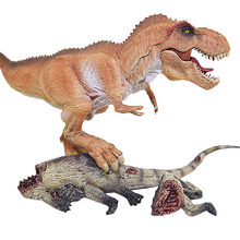 Brinquedos educativos Rei Dinossauro Tiranossauro Rex Dinossauro modelo Action Figure Com Base Do Corpo Coletor de Brinquedo Modelo Animal(China)
