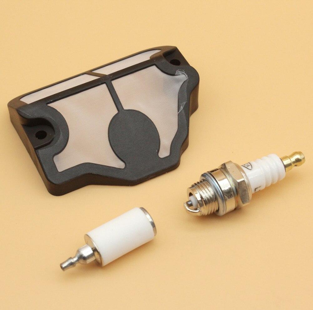 AIR FILTER GAS FUEL FILTER SPARK PLUG Service Kit For HUSQVARNA CHAINSAW 36 41 136 LE 137 137E 141 141LE 142 142E