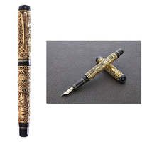 HERO 3000 Classical 18K Gold Fountain Pen Limited Edition Chinese Style Gold silk Butterfly Pattern Business Gift Collection Set