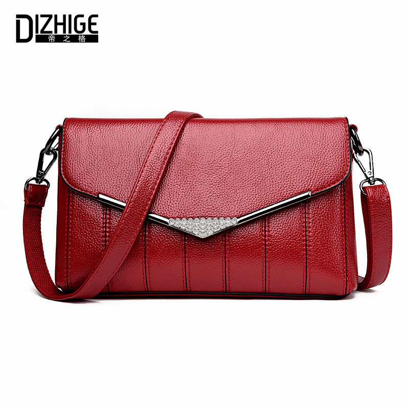 DIZHIGE Brand Spring High Quality Women Shoulder Bag Designer PU Leather Crossbody Bags Small Flap Women Handbags New Ladies Bag new fashion women bag ladies messenger bags 2017 crossbody shoulder bag woman leather black knitting small flap designer brand 3
