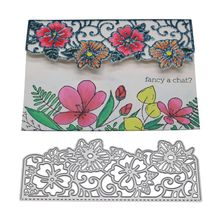 Flower Frame Metal Cutting Dies Stencil DIY Scrapbooking Album Stamp Paper Card Embossing Craft Decor