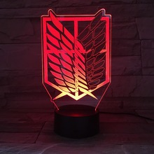 Anime Attack on Titan Wings of Liberty 3D Light LED Lamp