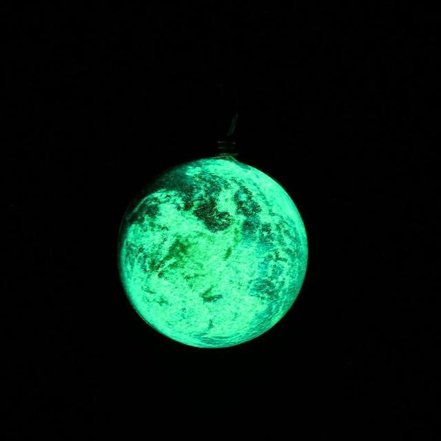 Unique Universe Necklace Luminous in the Dark