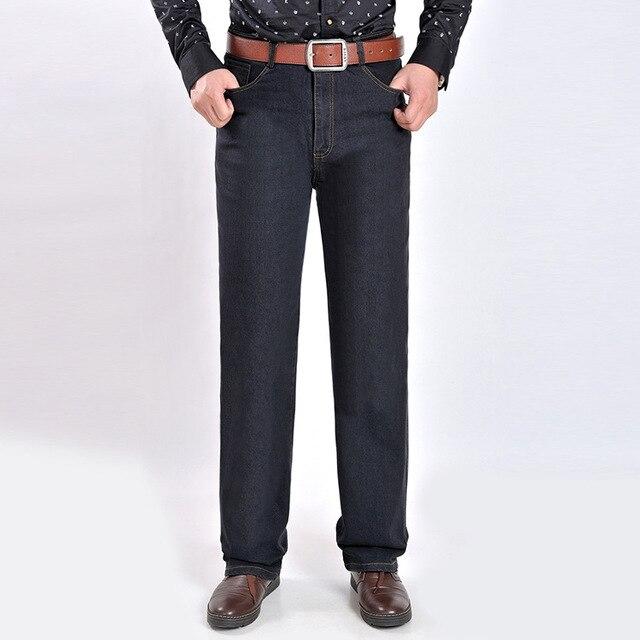 Nuovo Arrivo di Autunno e Inverno Stile Jeans Uomo Pantaloni a vita alta  Più Il Formato f096e5eddbf
