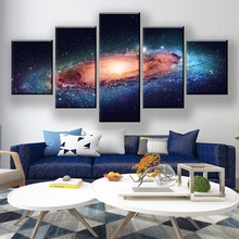 HD Print 5 Piece Galaxy Canvas Art Poster Sci Fi Cartoon Paintings On Wall For Home Decorations Decor Framework