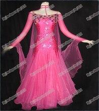 Professional  Modern Waltz Tango Ballroom Dance Dress, Smooth Ballroom Dress,Standard Ballroom Dress Girls B-0342