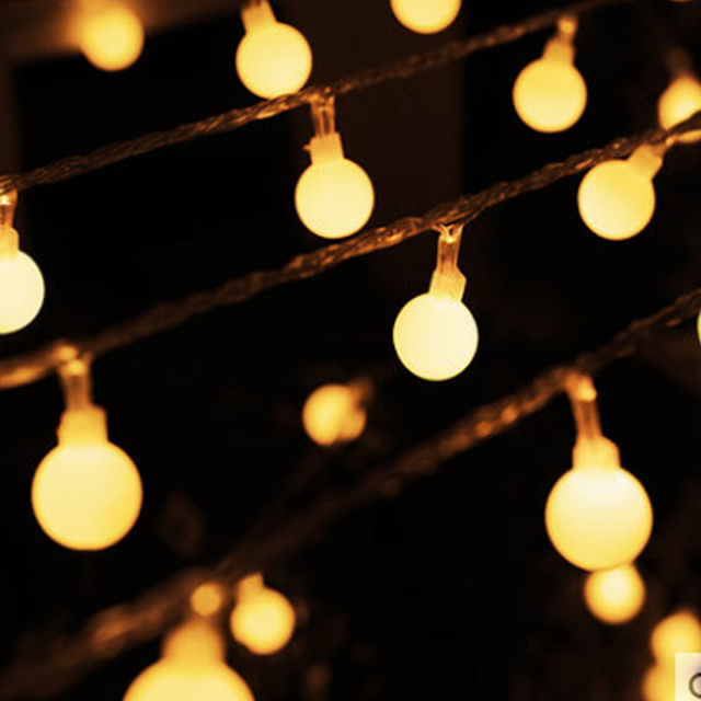 10m novelty outdoor lighting led ball string christmas lights with end plug wedding garden pendant garland