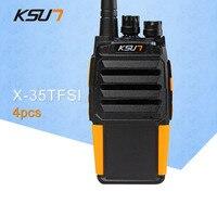 4 шт. KSUN X 35TFSI высокого давления версия Walkie Talkie 8 Вт двухдиапазонный двухсторонний радио портативный радио UHF400 480MHz CB радио