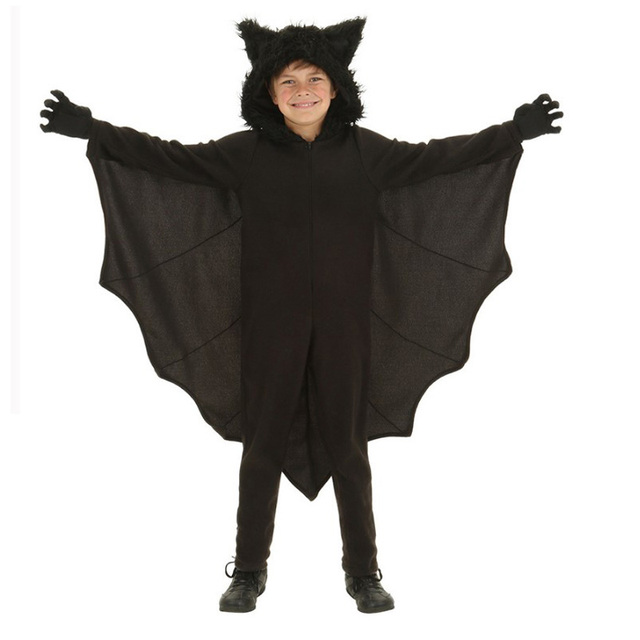 children adult men animal cosplay cute black bat costume kids halloween costumes for girls jumpsuit connect
