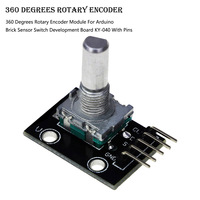 360 Degrees Rotary Encoder Module For Arduino Brick Sensor Switch Development Board With 5 Pins Tool Parts