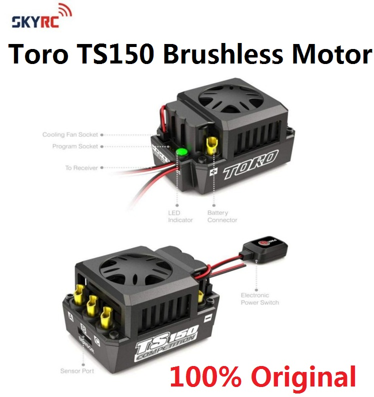 SKYRC ESC Toro TS150 Brushless sensorless Motor ESC Sensored speed control metel for 1/8 1:8 car RC buggy truggy truck high quality new 320a speed controller esc for rc car boart 1 8 1 10 truck buggy hot sale wholesale dorp shipping