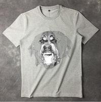 High New Novelty 19ss Men High Rottweiler Light 3D T Shirts T Shirt Hip Hop Skateboard Street Cotton T Shirts Tee Top Top #36