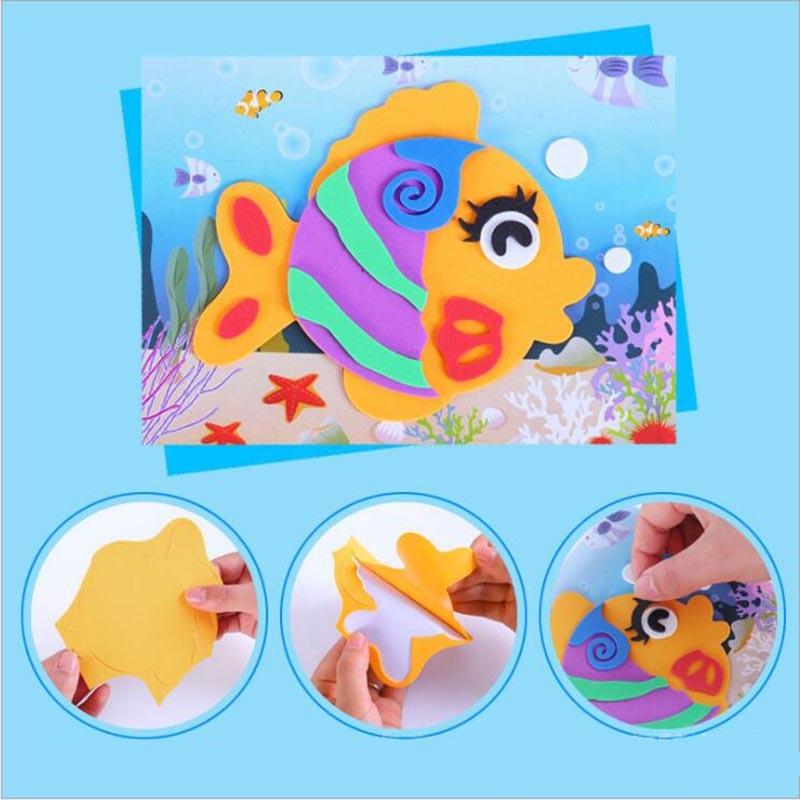 10 designs/lot DIY Cartoon 3D EVA Foam Sticker Puzzle Series Kids Multi-patterns Styles Toys for Children Birthday Gift 4