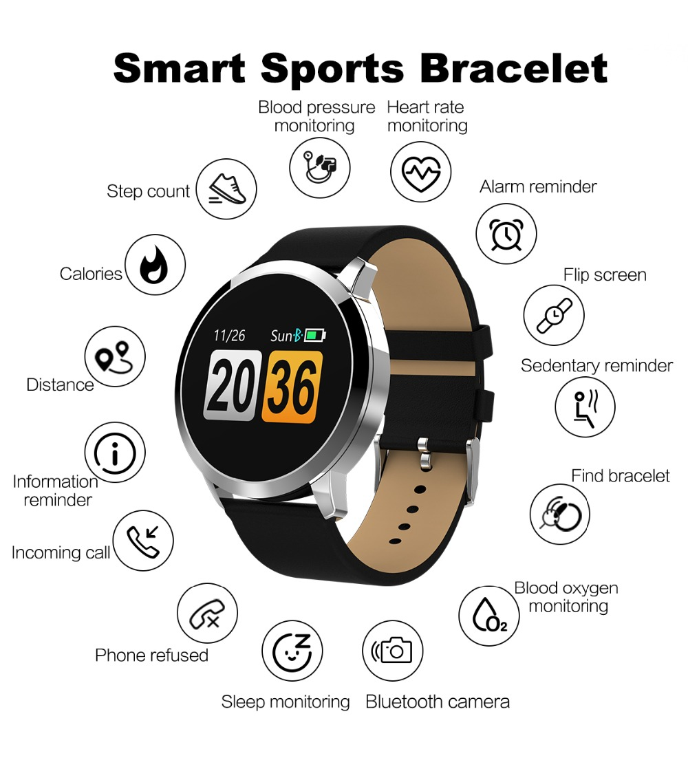 q8-1_09 Q8 Fitness Tracker femme montre intelligente