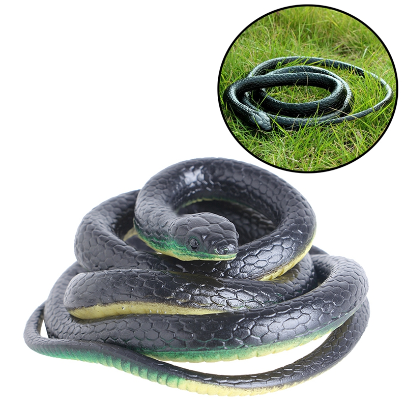 130cm Realistic Plastic Tricky Toy Fake Snakes Garden Props Joke Prank Halloween Horror Toys for Adults PP Plastic Snake