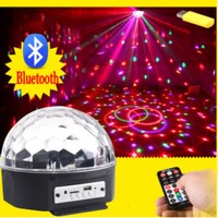9 Couleurs MP3 Bluetooth Cristal Magic Ball Led Étape Lampe Disco Laser Light Party Lumières Laser De Contrôle Du Son Projecteur Musique KTV