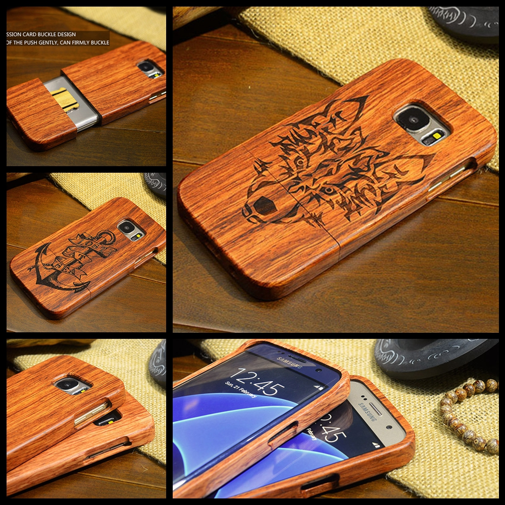 Rejaski Wolf Wood <font><b>Phone</b></font> <font><b>Case</b></font> for Samsung <font><b>Note</b></font> 3 <font><b>Note</b></font> <font><b>4</b></font> <font><b>Note</b></font> 5 Retro Wooden Carving <font><b>Case</b></font> Cover for Samsung Note3 Note4 Note5