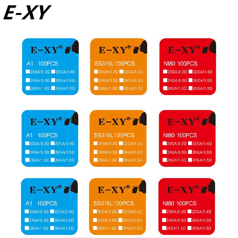 E-XY 100 unids RDA rda atomizador alambre de la mecha bobina de - Cigarrillos electrónicos - foto 3