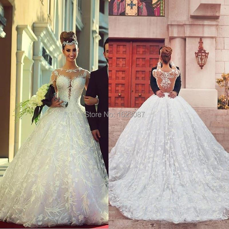 2017 Custom Made Wedding Dress Noble Appliques Fashionable Romantic Saree Scoop Gowns 2016 White Long Vintage Ball Gown In Dresses From