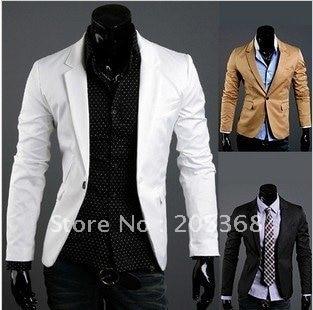 c14150d57 Hot Men's Suit,Brand Name Suit ,Casual Men's Suit, Fashion Men's Jackets,  Color:Black,Khaki,White Size:M-L-XL