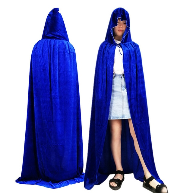 adult witch long purple green red black halloween cloaks hood and capes halloween costumes for women