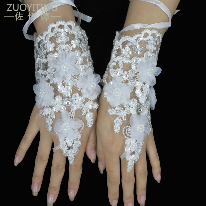 per comprare metà prezzo ultimo sconto ZUOYITING di Pizzo Bianco Guanti Da Sposa Principessa di Modo ...