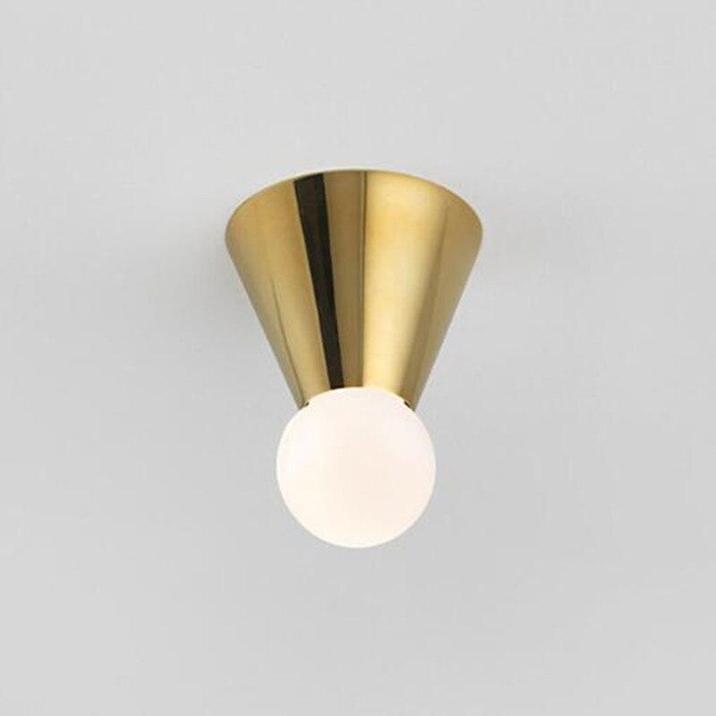 цена на Modern Kitchen Led Ceiling Lights Creative Study Aisle Bar Light Art Inverted Cone Designer Ceiling Lamp Free Shipping