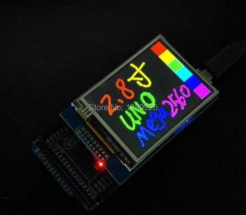 Envío Gratis 2,8 pulgadas TFT Touch LCD Módulo de pantalla para arduino UNO R3 de alta calidad