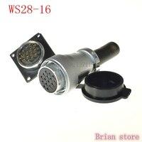WS28-16 Rechte Vrouwelijke 16 Pins Luchtvaart Kabel Plug Ronde Connector