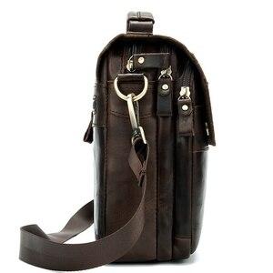 Image 3 - WESTAL shoulder bag for men Bag Mens Genuine Leather messenger bags Small Flap man male Crossbody bags leather man handbag8558