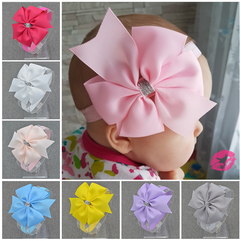 NEW  Floral Headband Silver ribbon bow  Bow knot Hairband  Hair Weave Band kids  Lovely  Accessories Gifts twvds kids flower headband floral hairband turban knot rabbit bowknot headwear hair band accessories mz05
