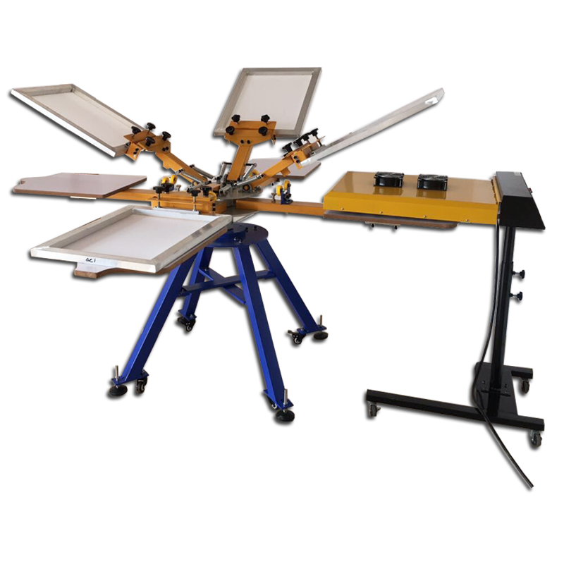 Manual 8 color 8 stations screen printing machine with IR drying oven,screen printing machine for tshirts стоимость