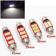 31mm 36mm 39mm 41mm C5W C10W CANBUS Error Free Auto Festoon SMD 4014 LED Car Interior Dome Lamp Reading Bulb White Light