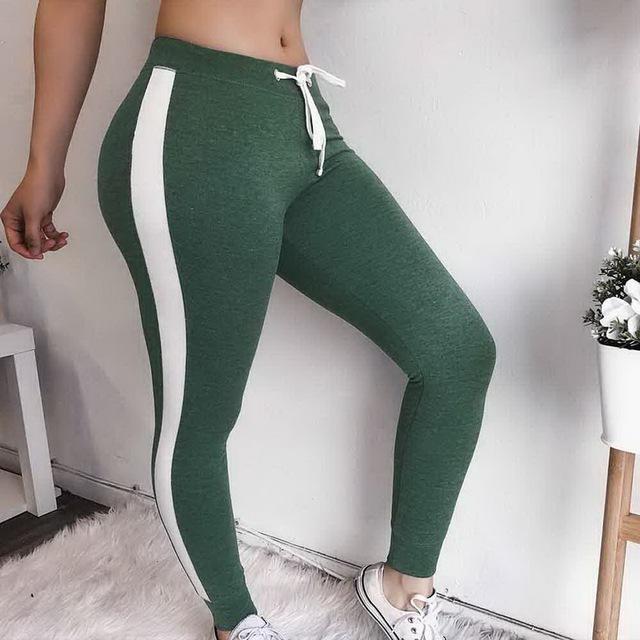 CALOFE 2018 Autumn Women Running Pants Slim Fitness Leggings Patchwork Sport Pants Yoga Leggins Gym Training Trousers Christmas