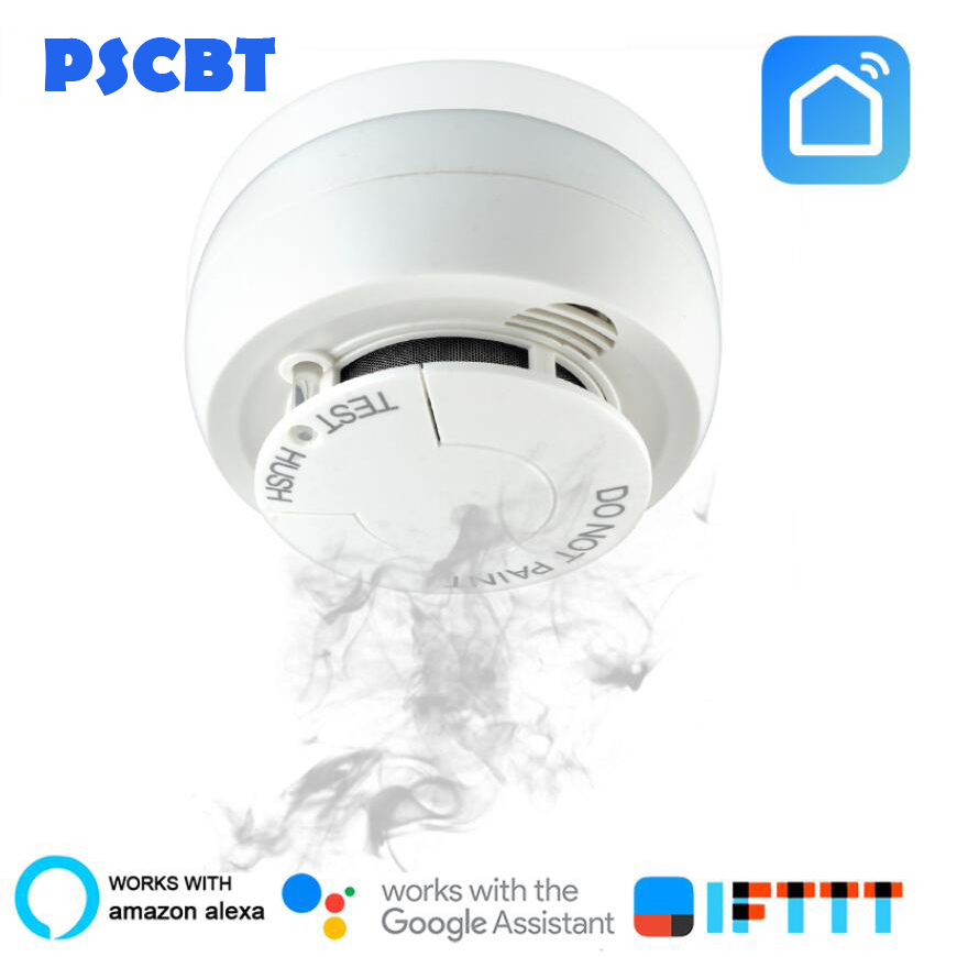 PSCBT WIFI Smoke Detector Fire Alarm Security System Smart Smoke Sensor Smart Life Tuya Works With Alexa Google Home IFTTTPSCBT WIFI Smoke Detector Fire Alarm Security System Smart Smoke Sensor Smart Life Tuya Works With Alexa Google Home IFTTT