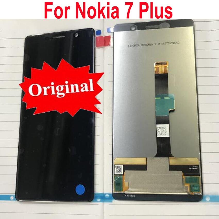 オリジナル最高 E7 プラス Lcd ディスプレイタッチパネル画面デジタイザアセンブリセンサーノキア 7 プラス 7 プラス TA  1046 TA 1055 TA 1062  グループ上の 携帯電話 & 電気通信 からの 携帯電話用液晶ディスプレイ の中 1