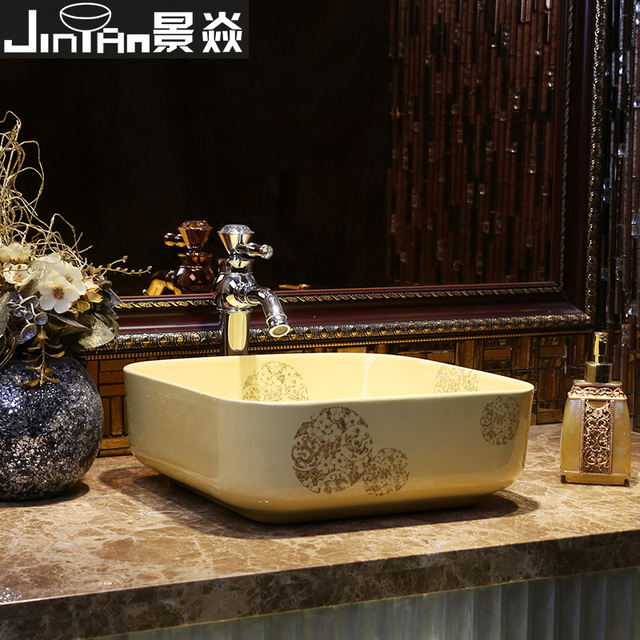 US $306.88  König Yan Jia Zhuang keramik waschbecken badezimmer waschbecken  becken wc handwaschbecken Platz Topaz tour Dragon Phoenix in König Yan ...