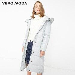 Vero Moda пуховик женский новый пуховик женский парка женская зимняя куртка для женщин съемный мех кролика с капюшоном длинный пуховик для женщ...