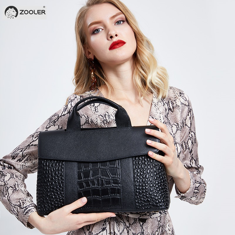 2019 New tote genuine leather bags women zooler shoulder bags skin leather handbag designer woman leather