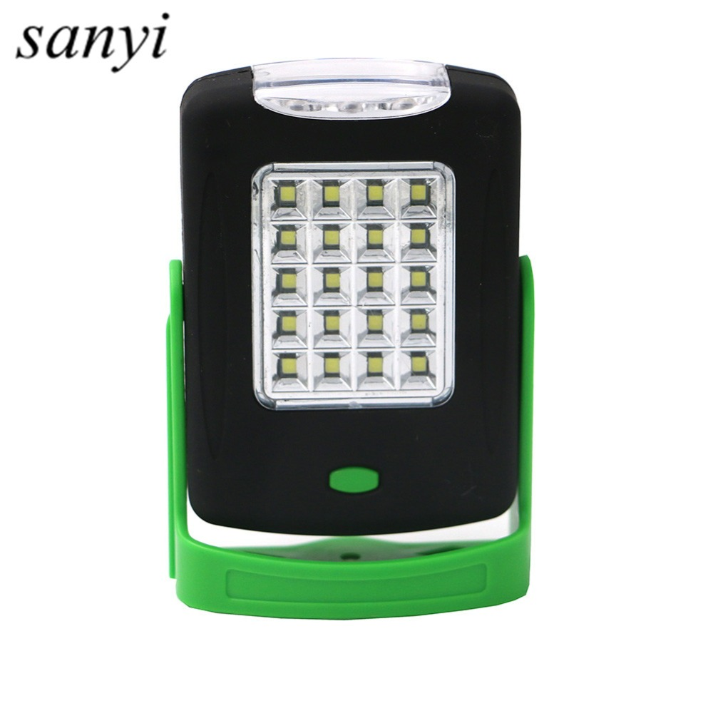2 Modes Portable Lantern Emergency 20+3 LEDs Camping Lantern Waterproof Hand Flash Light Mini Torch Hanging Lamp With Magnets